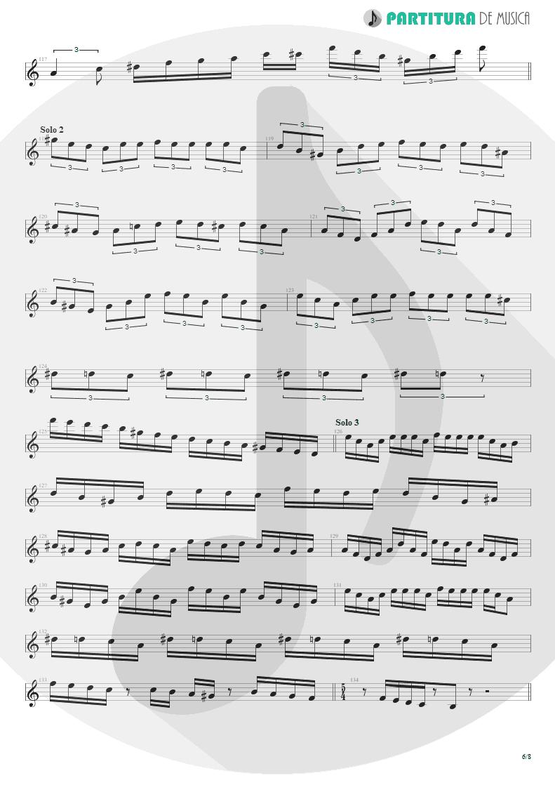 Partitura de musica de Guitarra Elétrica - Speed   Angra   Fireworks 1998 - pag 6