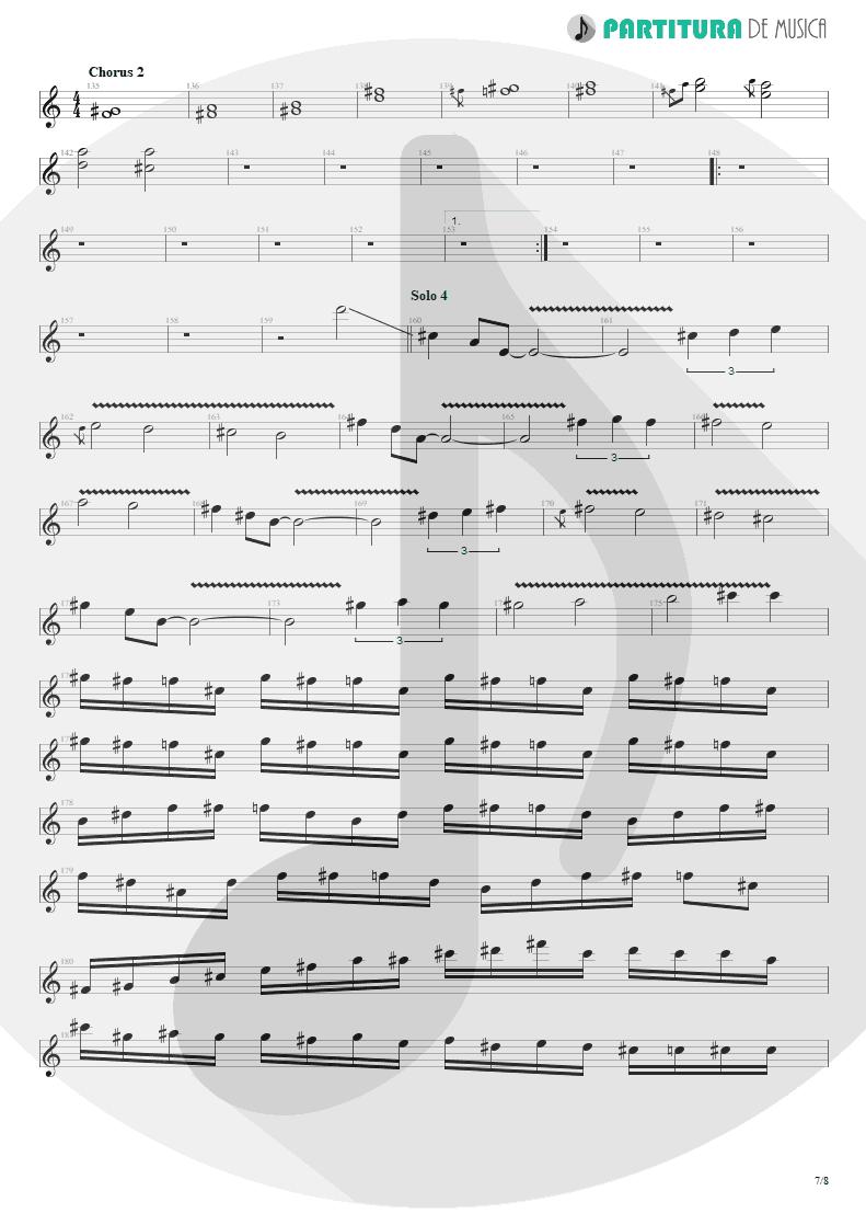 Partitura de musica de Guitarra Elétrica - Speed   Angra   Fireworks 1998 - pag 7