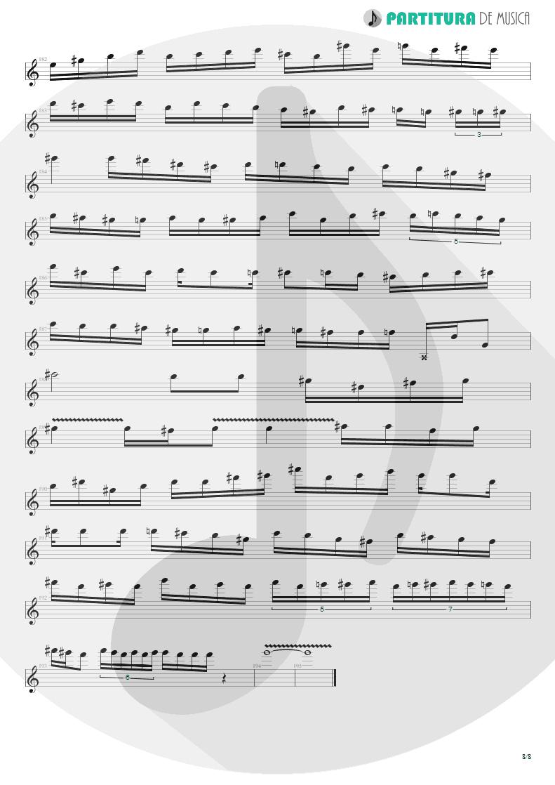 Partitura de musica de Guitarra Elétrica - Speed | Angra | Fireworks 1998 - pag 8