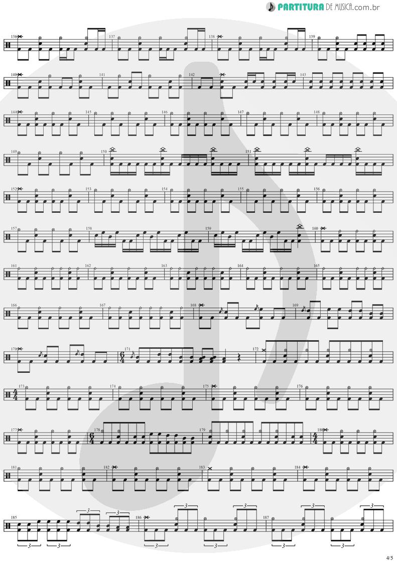 Partitura de musica de Bateria - Angels And Demons | Angra | Temple of Shadows 2004 - pag 4
