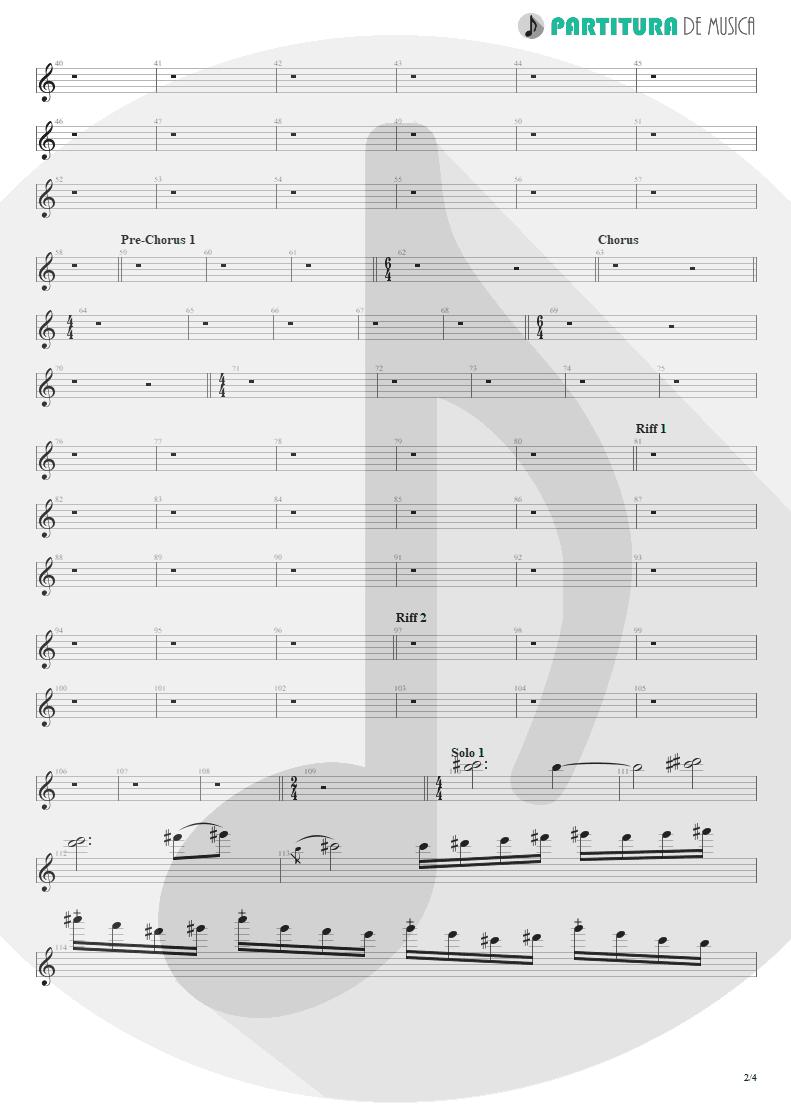 Partitura de musica de Guitarra Elétrica - Angels And Demons | Angra | Temple of Shadows 2004 - pag 2