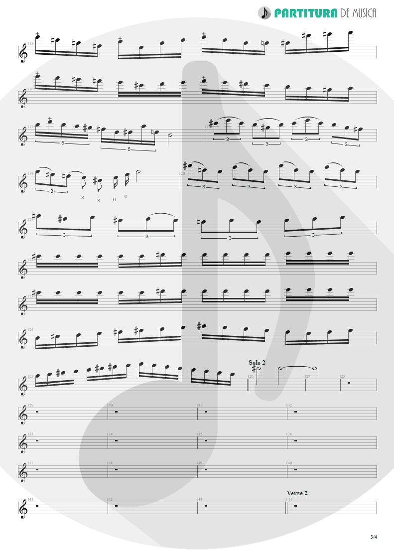 Partitura de musica de Guitarra Elétrica - Angels And Demons | Angra | Temple of Shadows 2004 - pag 3