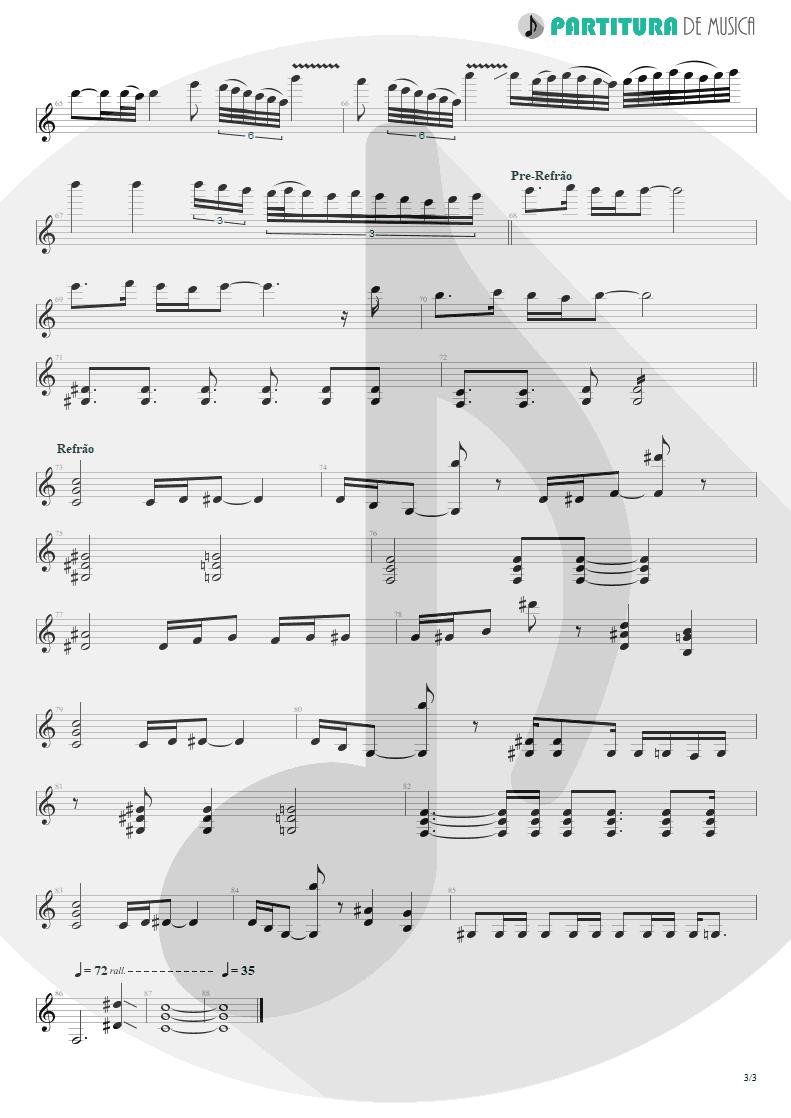 Partitura de musica de Guitarra Elétrica - Late Redemption | Angra | Temple of Shadows 2004 - pag 3