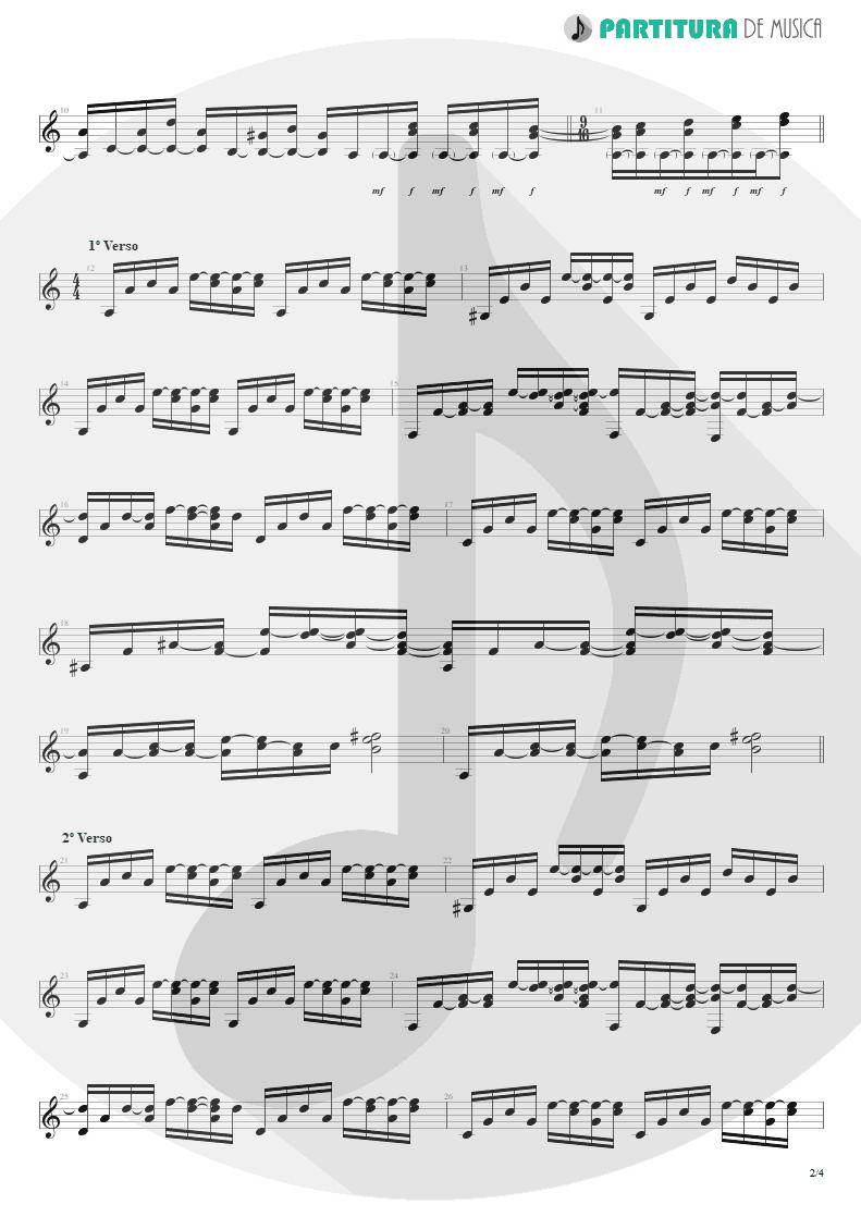Partitura de musica de Violão - Late Redemption | Angra | Temple of Shadows 2004 - pag 2