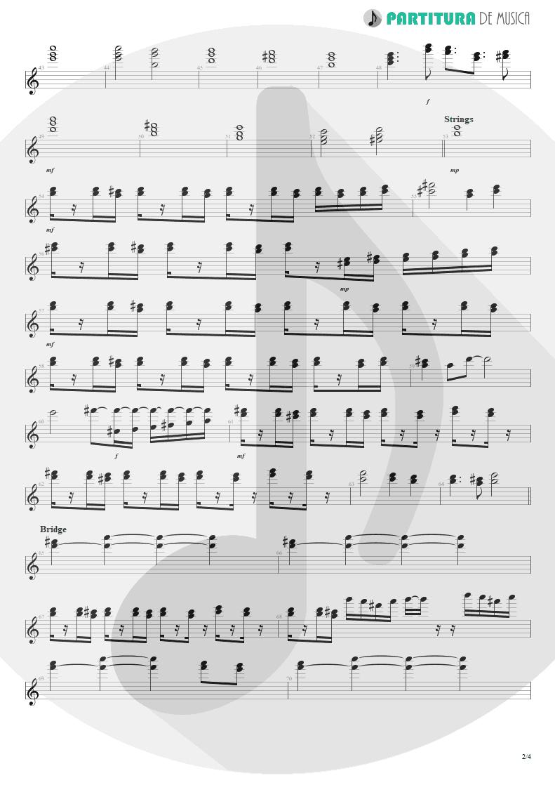 Partitura de musica de Teclado - No Pain For The Dead   Angra   Temple of Shadows 2004 - pag 2