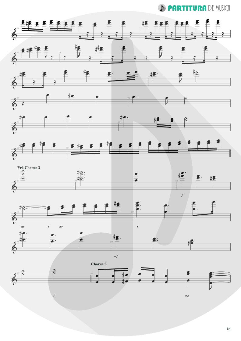 Partitura de musica de Teclado - No Pain For The Dead   Angra   Temple of Shadows 2004 - pag 3