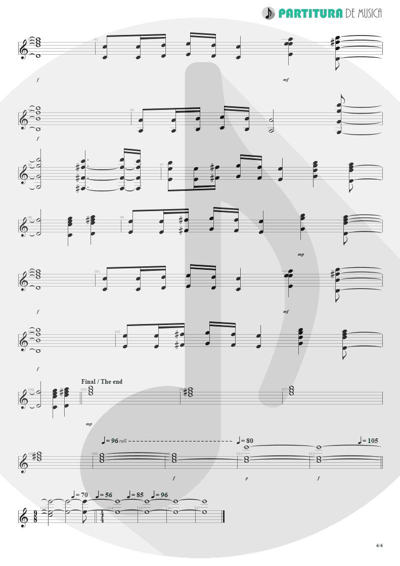 Partitura de musica de Teclado - No Pain For The Dead   Angra   Temple of Shadows 2004 - pag 4