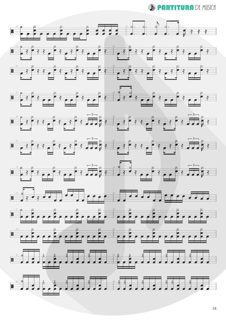 Partitura de musica de Bateria - Spread Your Fire | Angra | Temple of Shadows 2004 - pag 2