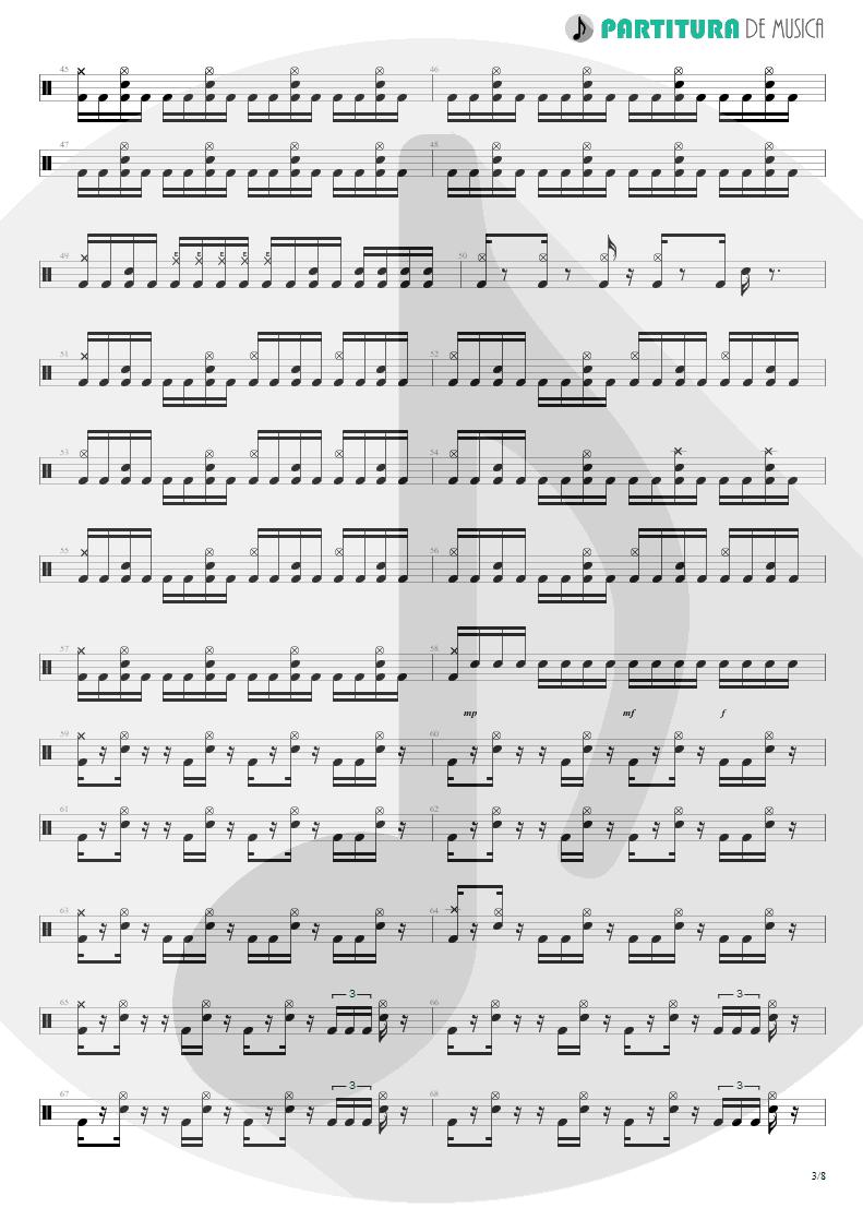 Partitura de musica de Bateria - Spread Your Fire | Angra | Temple of Shadows 2004 - pag 3
