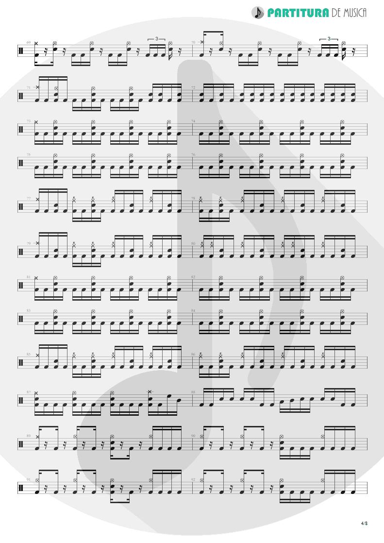 Partitura de musica de Bateria - Spread Your Fire | Angra | Temple of Shadows 2004 - pag 4