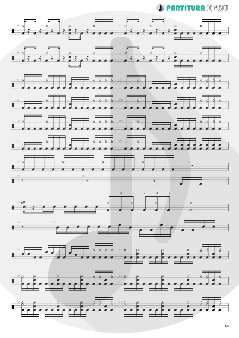 Partitura de musica de Bateria - Spread Your Fire | Angra | Temple of Shadows 2004 - pag 5