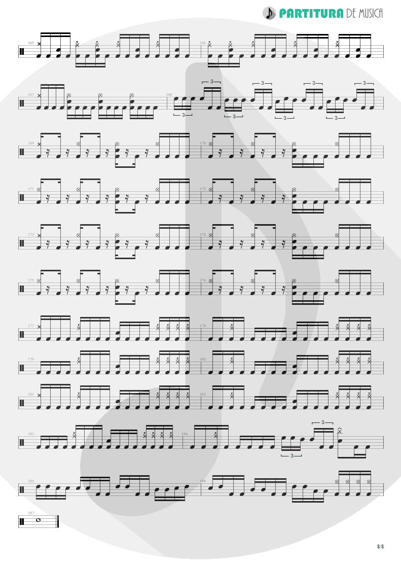 Partitura de musica de Bateria - Spread Your Fire | Angra | Temple of Shadows 2004 - pag 8