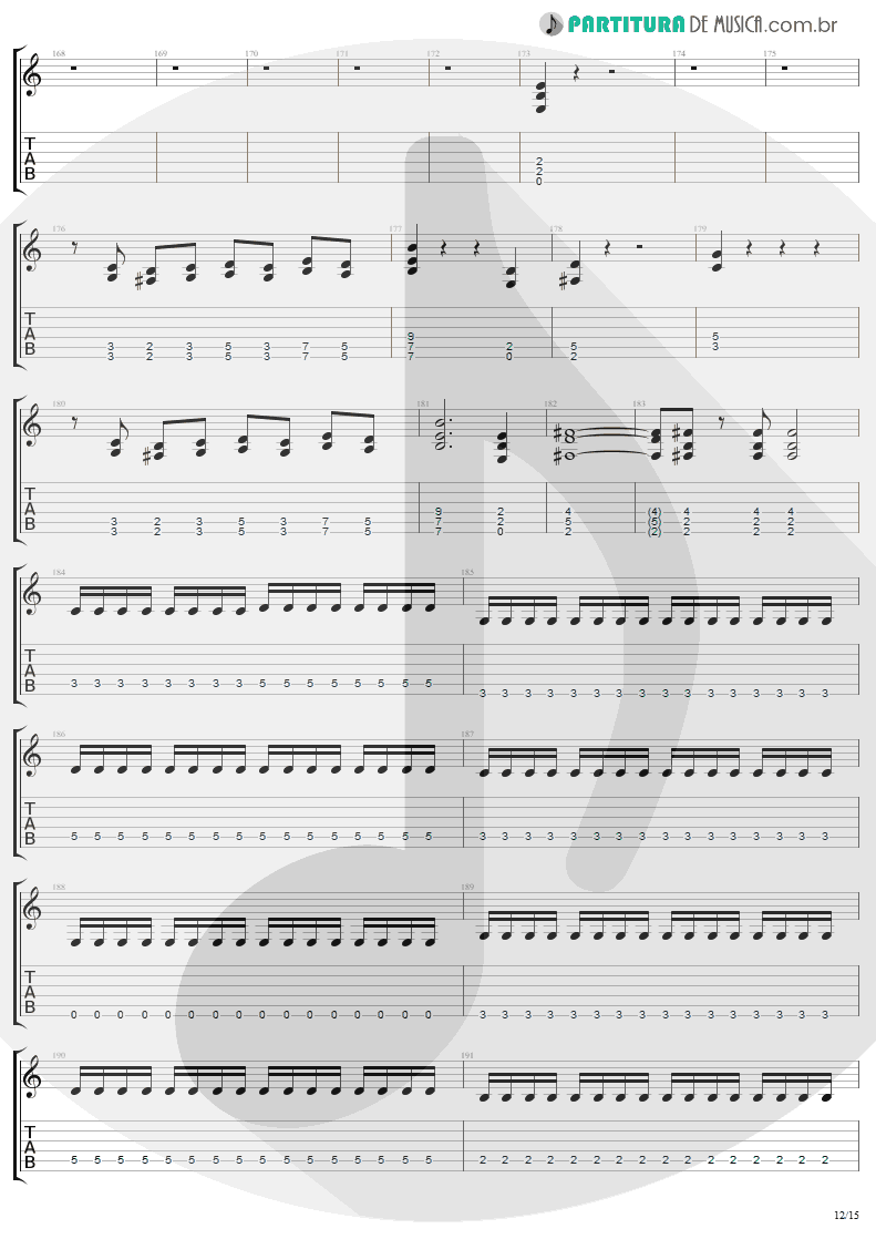 Tablatura + Partitura de musica de Guitarra Elétrica - The Temple Of Hate | Angra | Temple of Shadows 2004 - pag 12