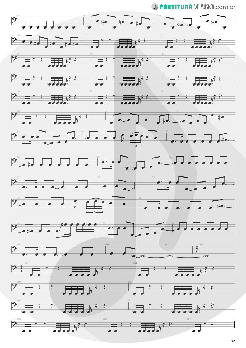 Partitura de musica de Baixo Elétrico - Unholy Confessions   Avenged Sevenfold   Waking the Fallen 2003 - pag 3