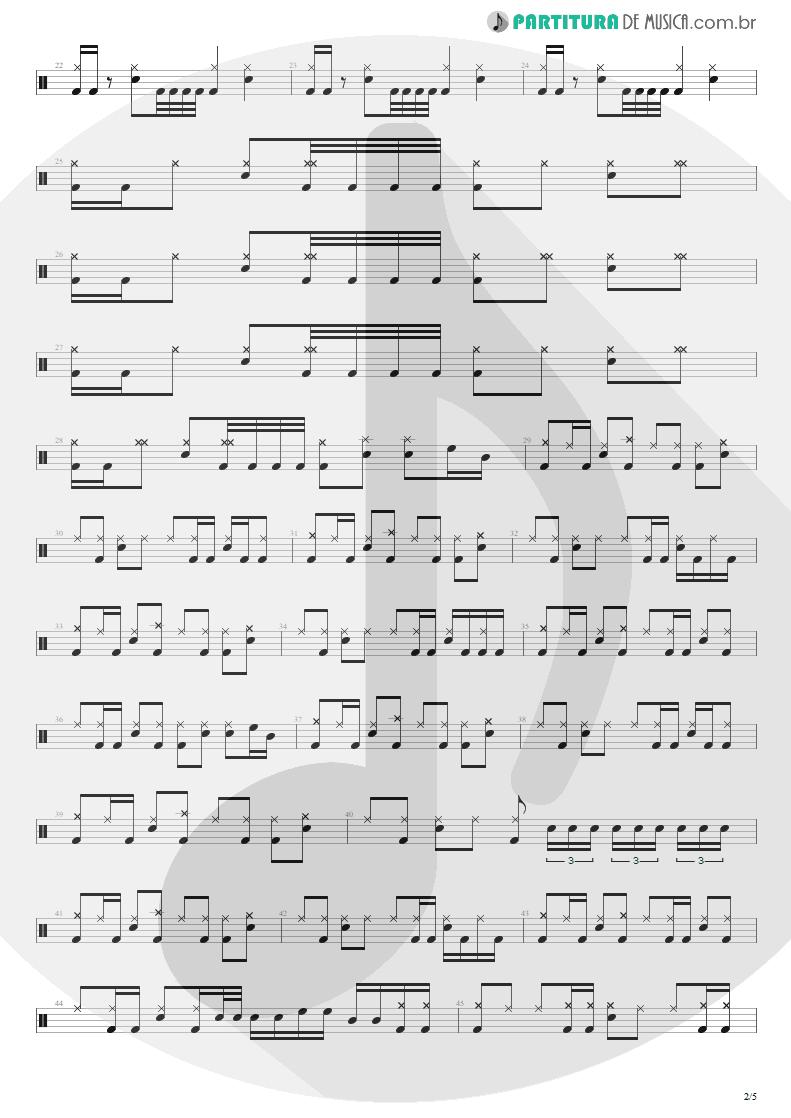 Partitura de musica de Bateria - Unholy Confessions | Avenged Sevenfold | Waking the Fallen 2003 - pag 2