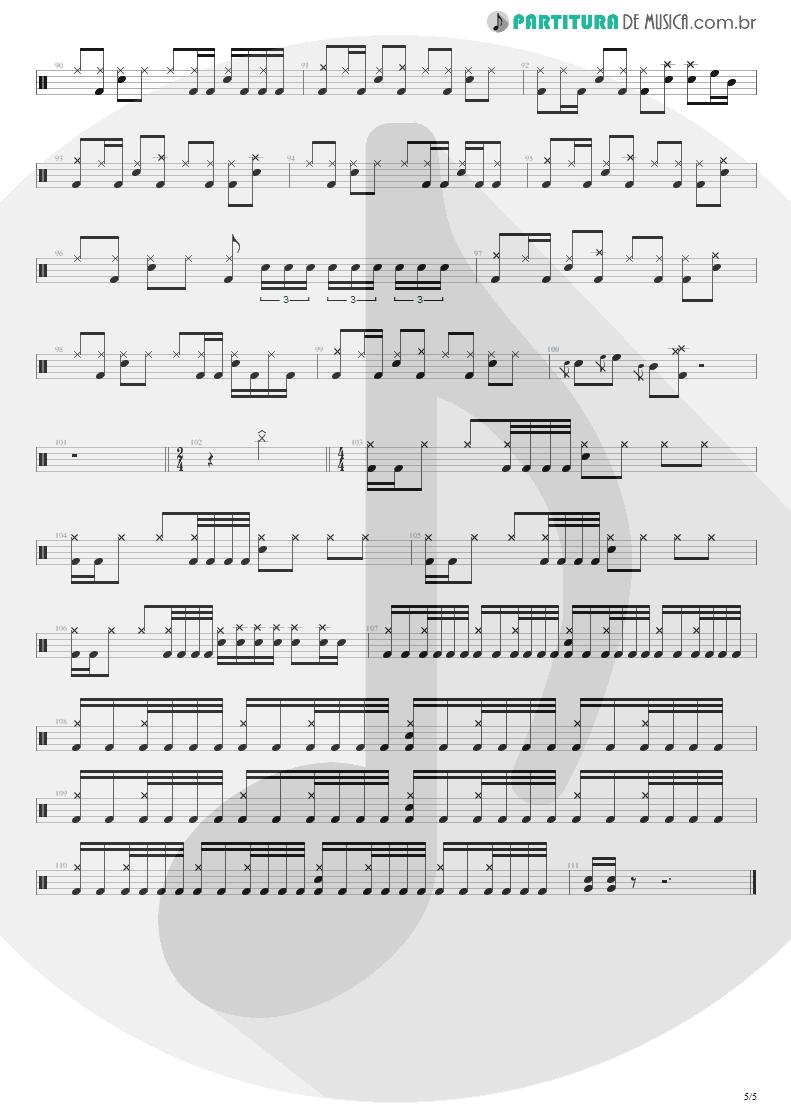 Partitura de musica de Bateria - Unholy Confessions | Avenged Sevenfold | Waking the Fallen 2003 - pag 5