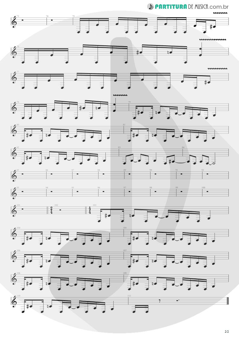 Partitura de musica de Guitarra Elétrica - Unholy Confessions | Avenged Sevenfold | Waking the Fallen 2003 - pag 2