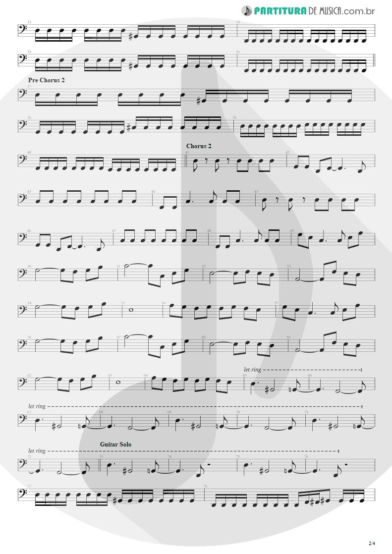 Partitura de musica de Baixo Elétrico - Bat Country   Avenged Sevenfold   City of Evil 2005 - pag 2