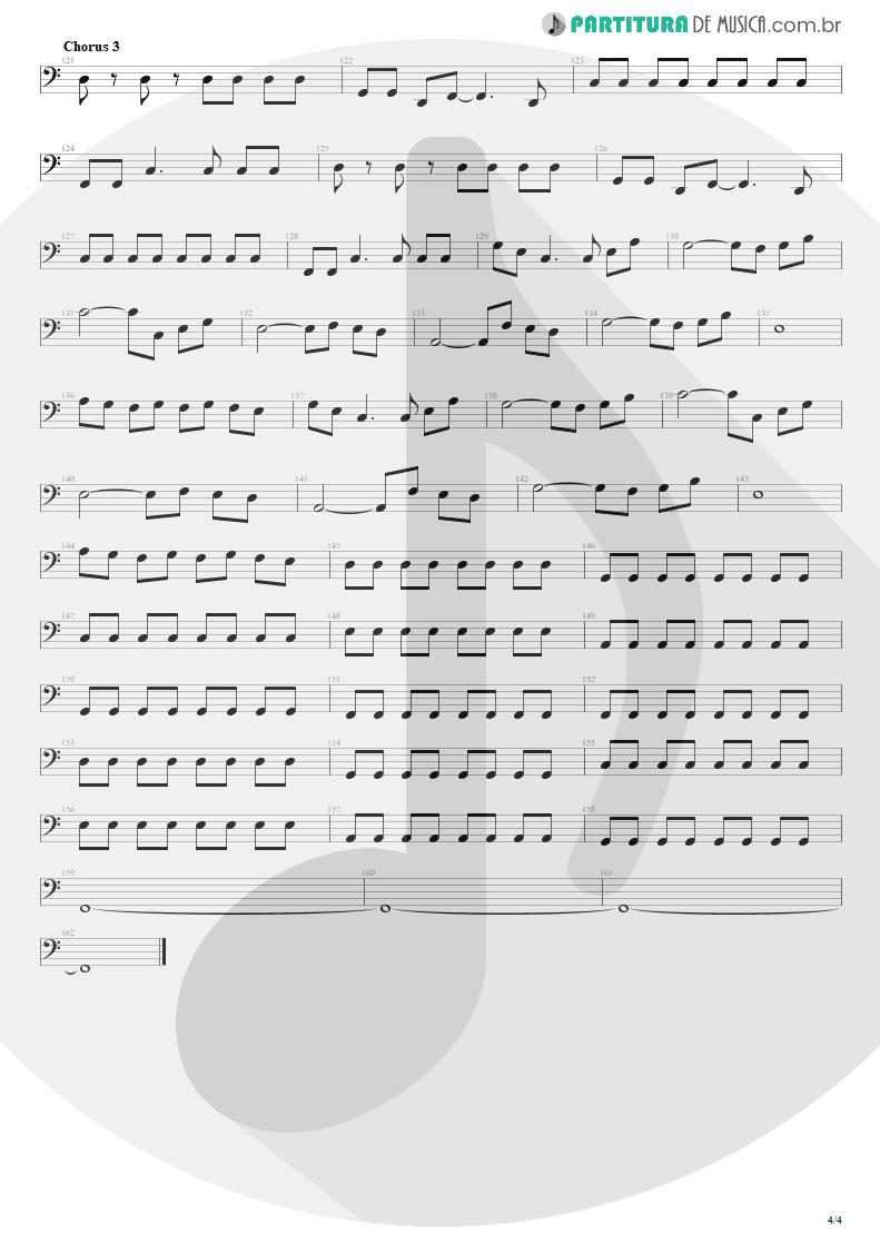 Partitura de musica de Baixo Elétrico - Bat Country   Avenged Sevenfold   City of Evil 2005 - pag 4