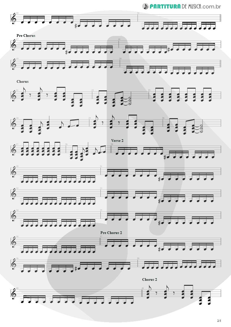 Partitura de musica de Guitarra Elétrica - Bat Country   Avenged Sevenfold   City of Evil 2005 - pag 2