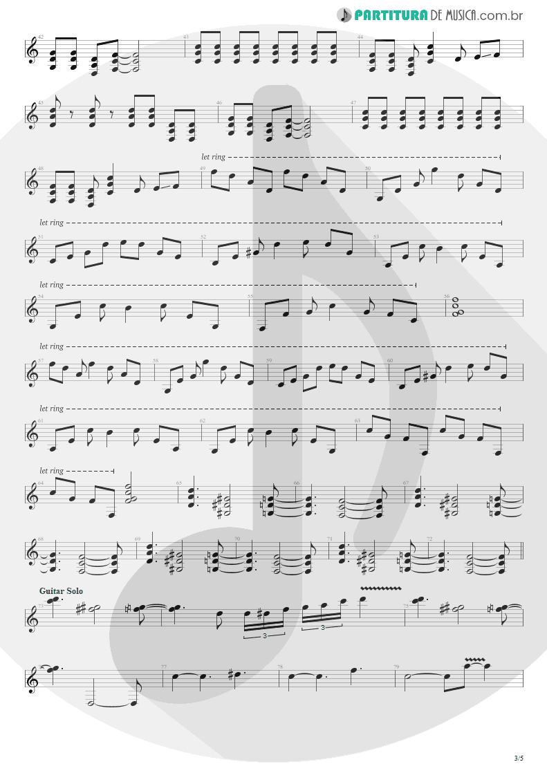 Partitura de musica de Guitarra Elétrica - Bat Country   Avenged Sevenfold   City of Evil 2005 - pag 3