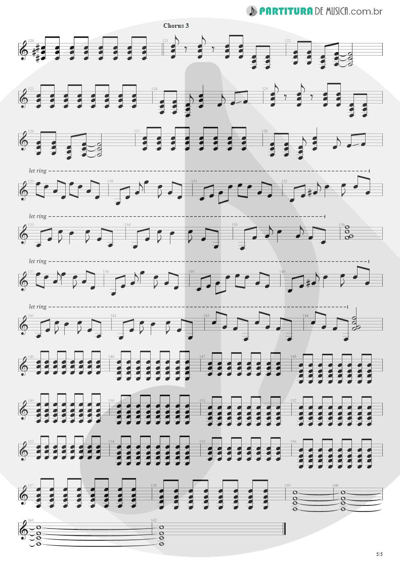 Partitura de musica de Guitarra Elétrica - Bat Country   Avenged Sevenfold   City of Evil 2005 - pag 5