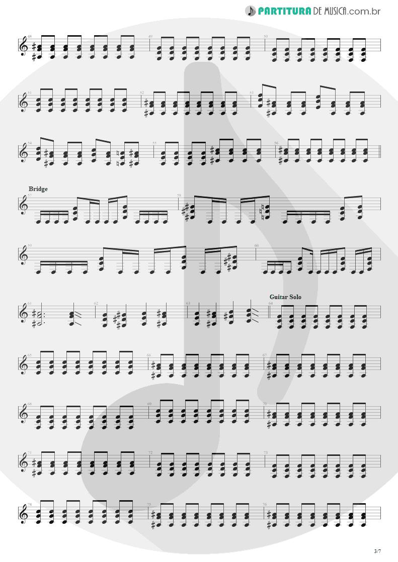 Partitura de musica de Guitarra Elétrica - Beast And The Harlot | Avenged Sevenfold | City of Evil 2005 - pag 3