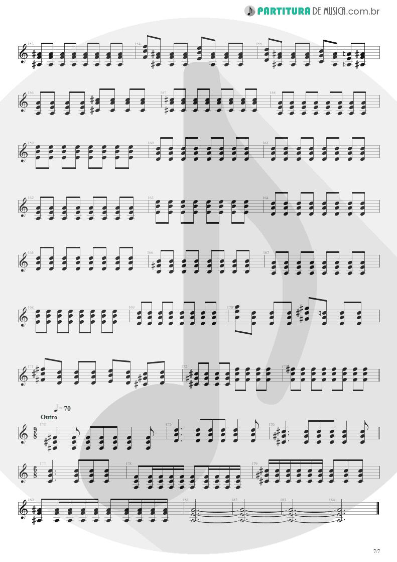Partitura de musica de Guitarra Elétrica - Beast And The Harlot | Avenged Sevenfold | City of Evil 2005 - pag 7
