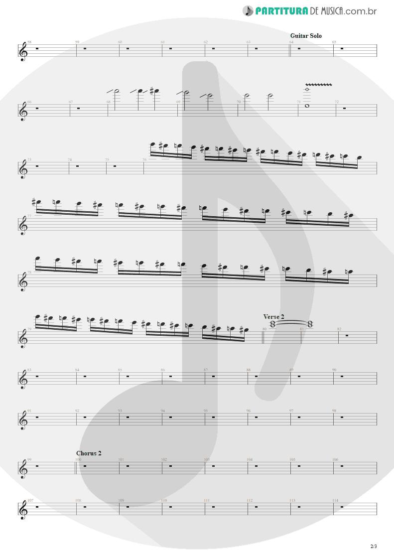 Partitura de musica de Guitarra Elétrica - Beast And The Harlot   Avenged Sevenfold   City of Evil 2005 - pag 2