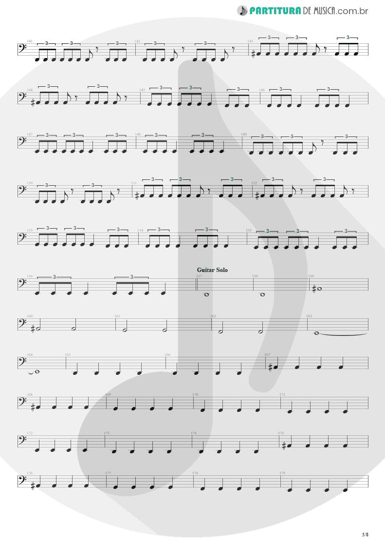 Partitura de musica de Baixo Elétrico - Blinded In Chains   Avenged Sevenfold   City of Evil 2005 - pag 5