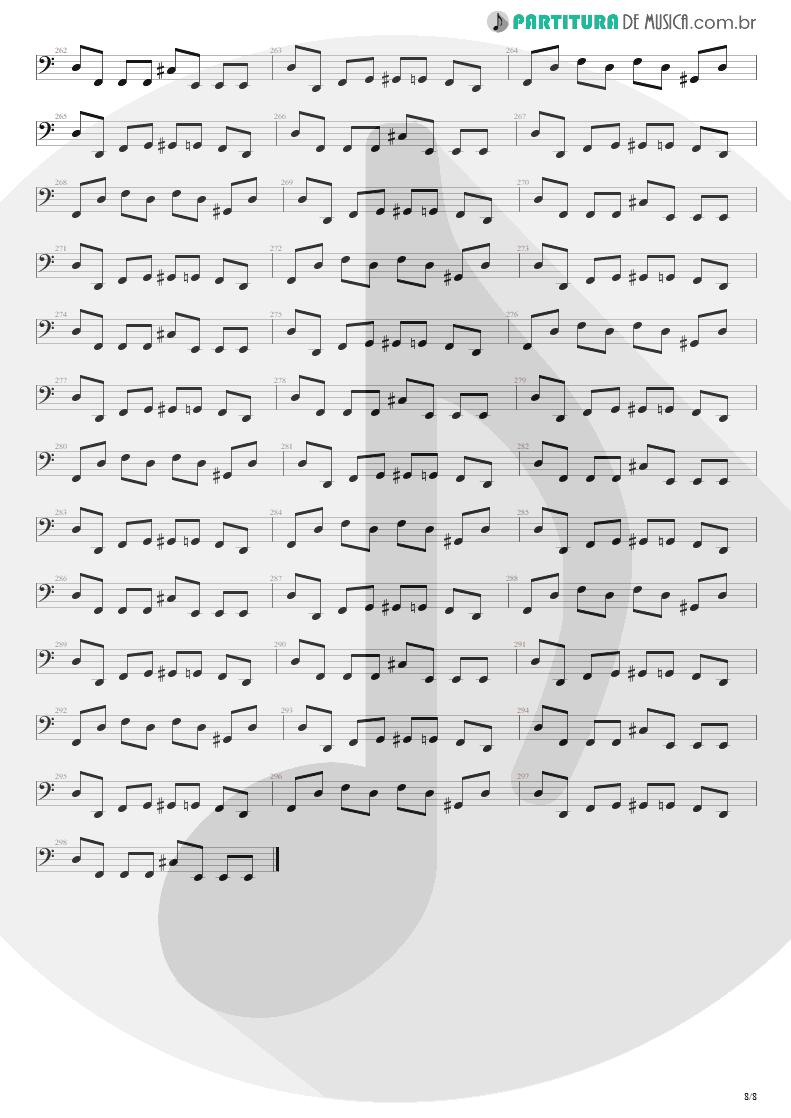 Partitura de musica de Baixo Elétrico - Blinded In Chains   Avenged Sevenfold   City of Evil 2005 - pag 8