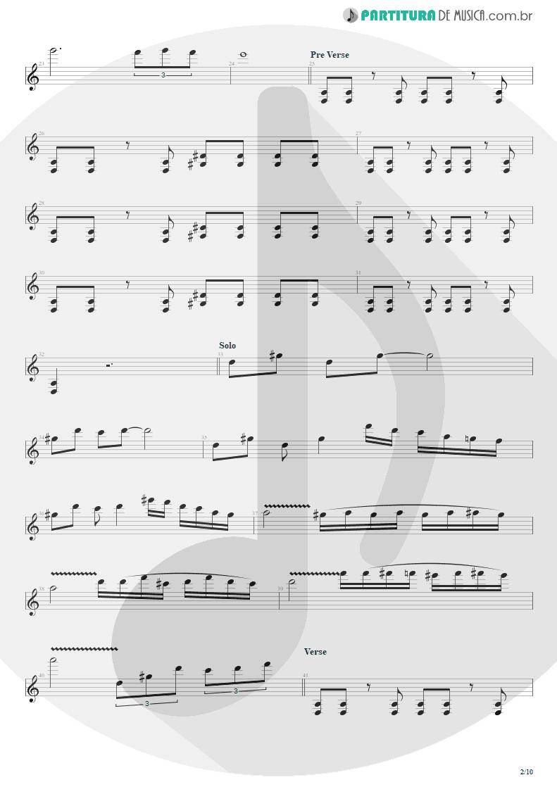 Partitura de musica de Guitarra Elétrica - Blinded In Chains | Avenged Sevenfold | City of Evil 2005 - pag 2