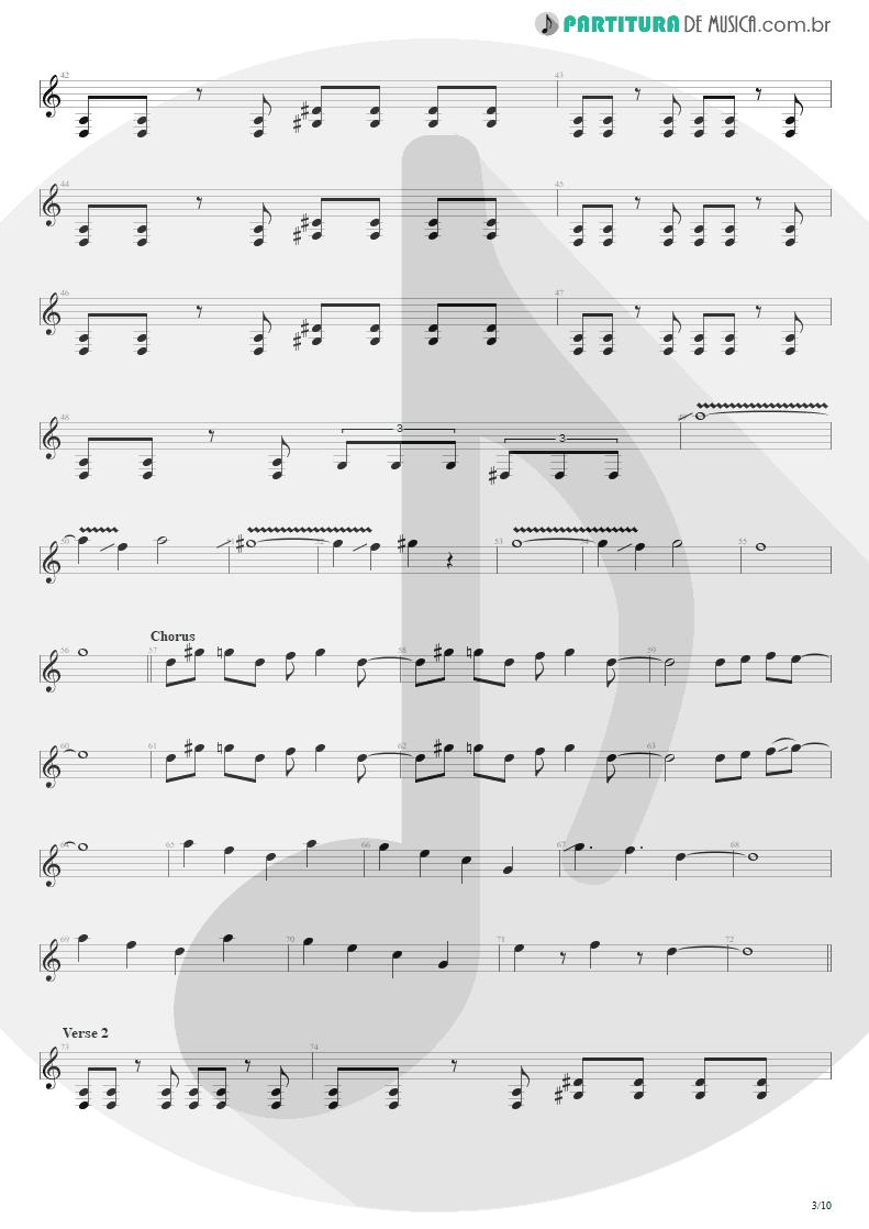 Partitura de musica de Guitarra Elétrica - Blinded In Chains | Avenged Sevenfold | City of Evil 2005 - pag 3