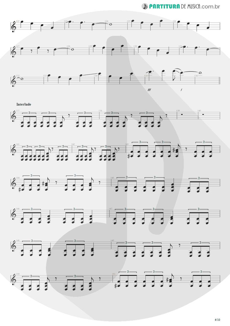 Partitura de musica de Guitarra Elétrica - Blinded In Chains | Avenged Sevenfold | City of Evil 2005 - pag 6