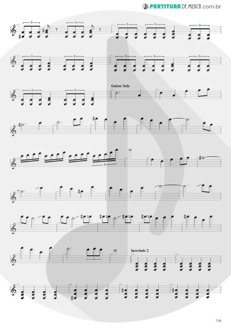 Partitura de musica de Guitarra Elétrica - Blinded In Chains | Avenged Sevenfold | City of Evil 2005 - pag 7
