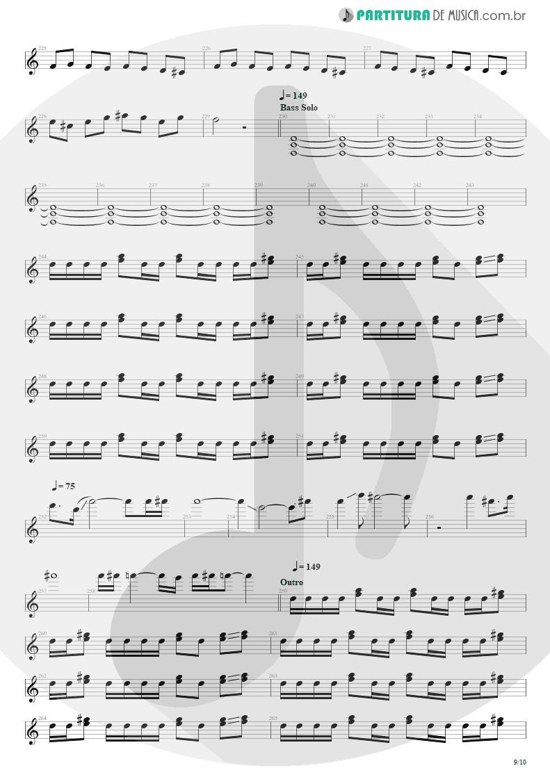 Partitura de musica de Guitarra Elétrica - Blinded In Chains | Avenged Sevenfold | City of Evil 2005 - pag 9