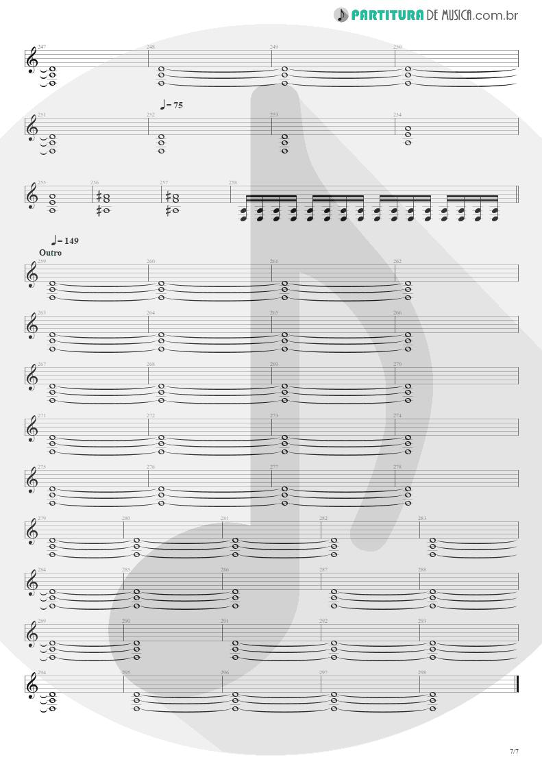 Partitura de musica de Guitarra Elétrica - Blinded In Chains   Avenged Sevenfold   City of Evil 2005 - pag 7