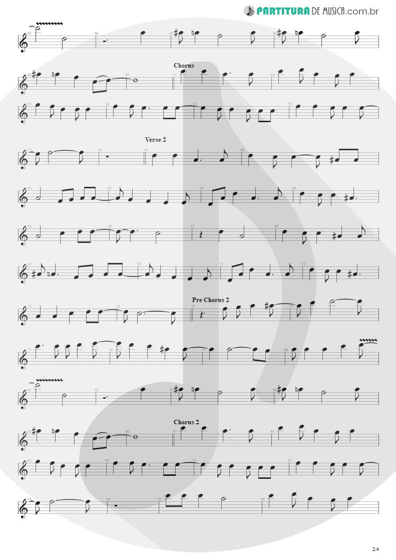 Partitura de musica de Canto - Seize The Day   Avenged Sevenfold   City of Evil 2005 - pag 2