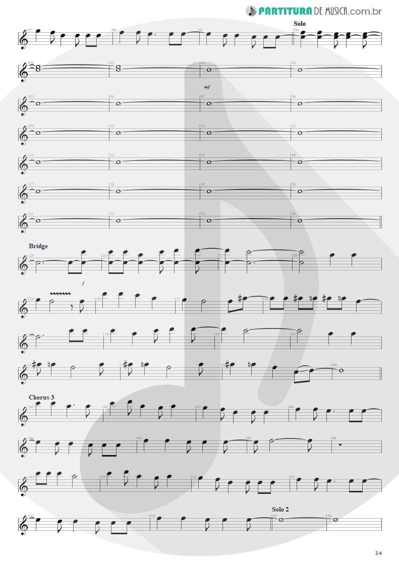 Partitura de musica de Canto - Seize The Day   Avenged Sevenfold   City of Evil 2005 - pag 3