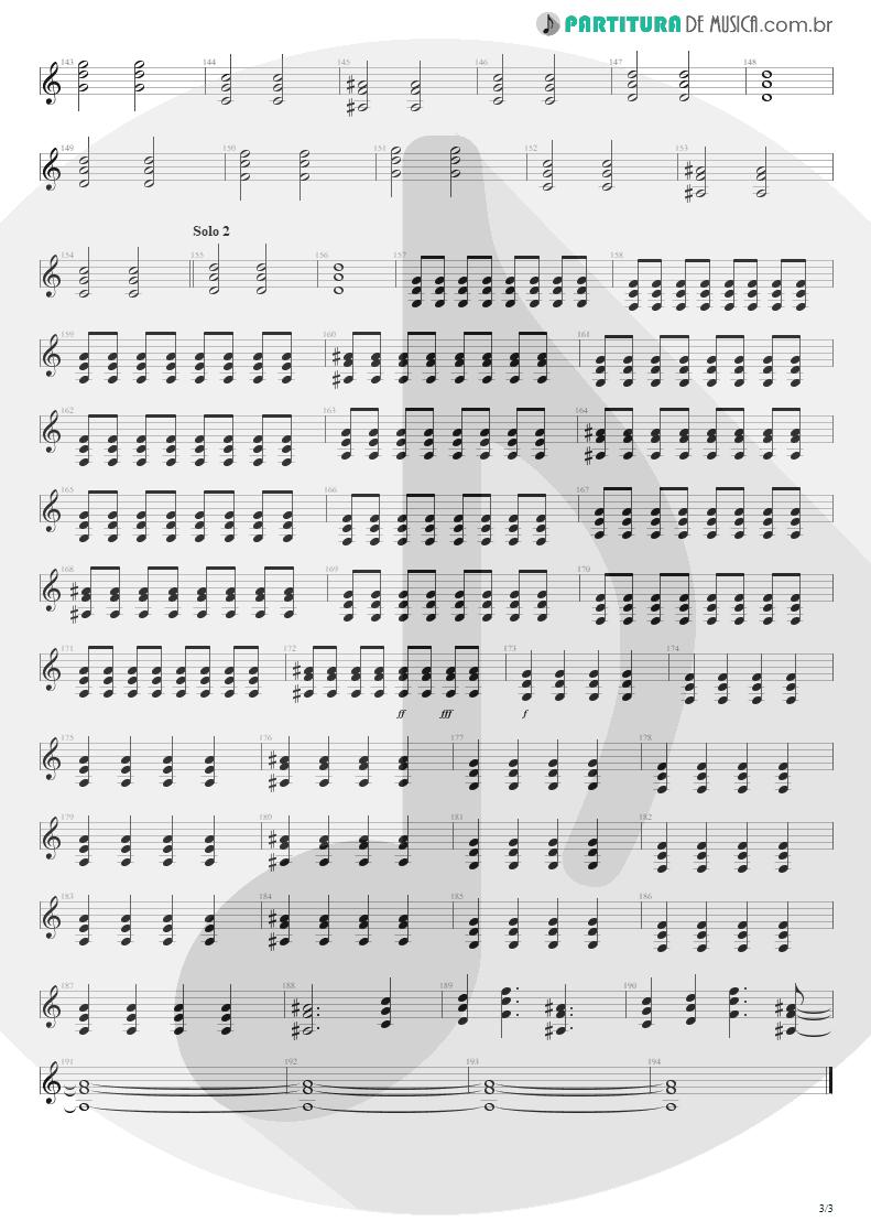 Partitura de musica de Guitarra Elétrica - Seize The Day | Avenged Sevenfold | City of Evil 2005 - pag 3