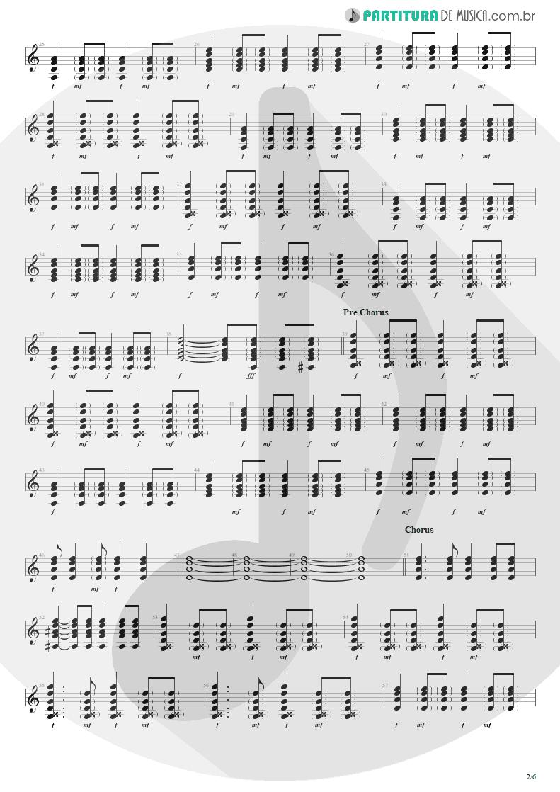 Partitura de musica de Violão - Seize The Day   Avenged Sevenfold   City of Evil 2005 - pag 2