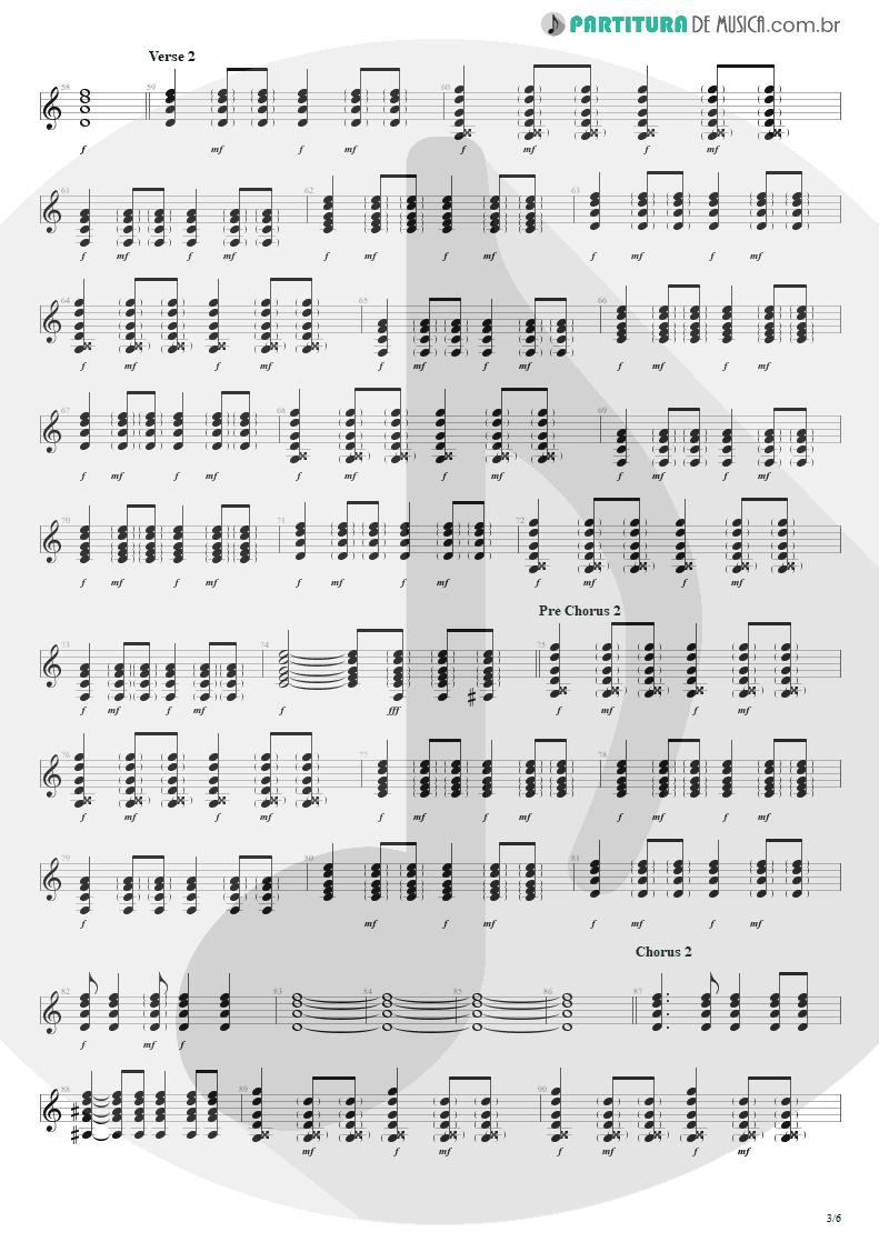 Partitura de musica de Violão - Seize The Day   Avenged Sevenfold   City of Evil 2005 - pag 3