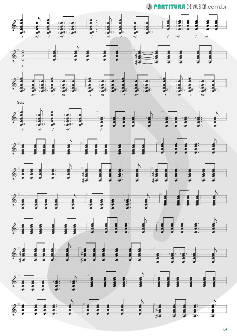 Partitura de musica de Violão - Seize The Day   Avenged Sevenfold   City of Evil 2005 - pag 4
