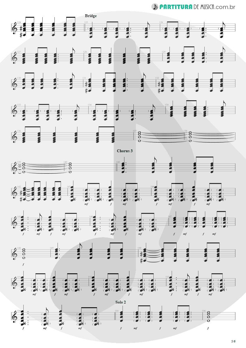 Partitura de musica de Violão - Seize The Day   Avenged Sevenfold   City of Evil 2005 - pag 5
