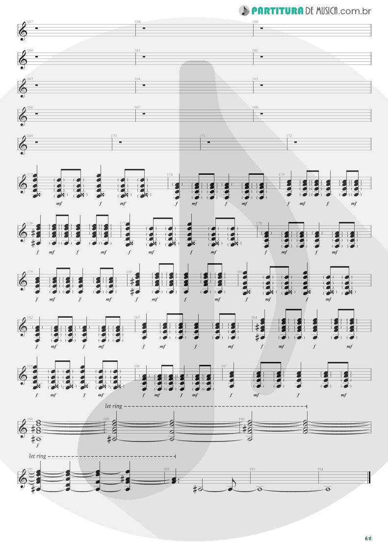 Partitura de musica de Violão - Seize The Day   Avenged Sevenfold   City of Evil 2005 - pag 6