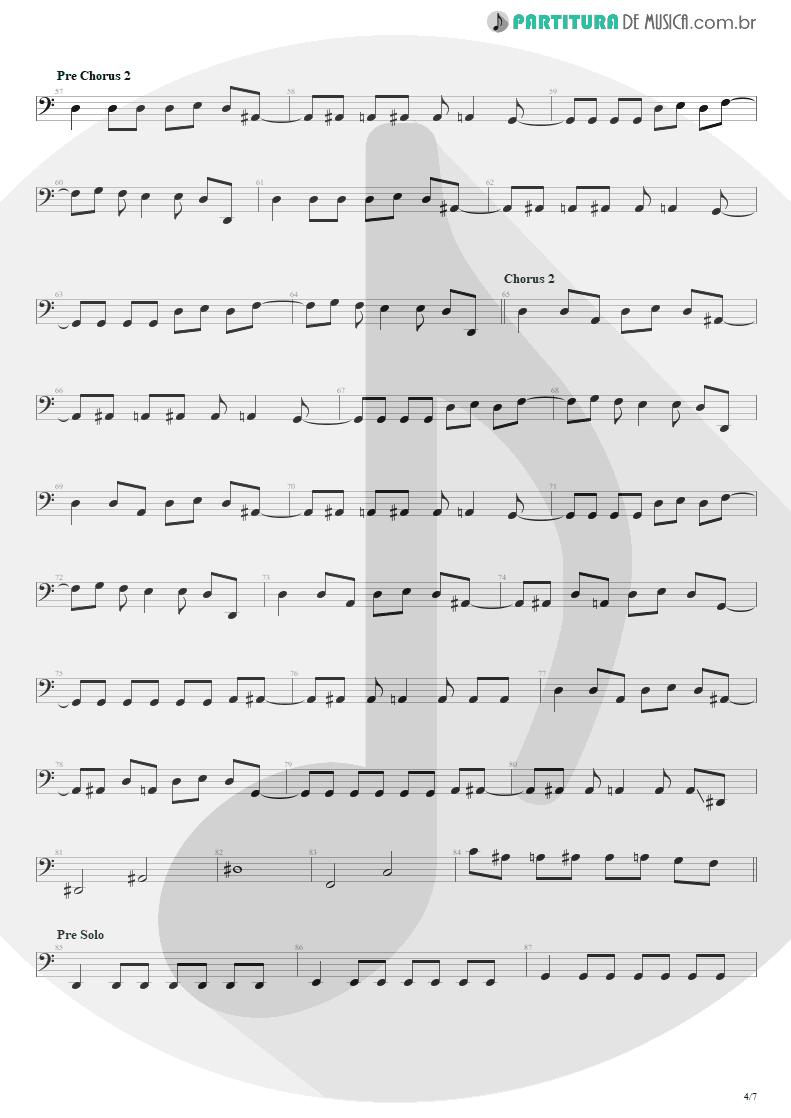 Partitura de musica de Baixo Elétrico - The Wicked End | Avenged Sevenfold | City of Evil 2005 - pag 4