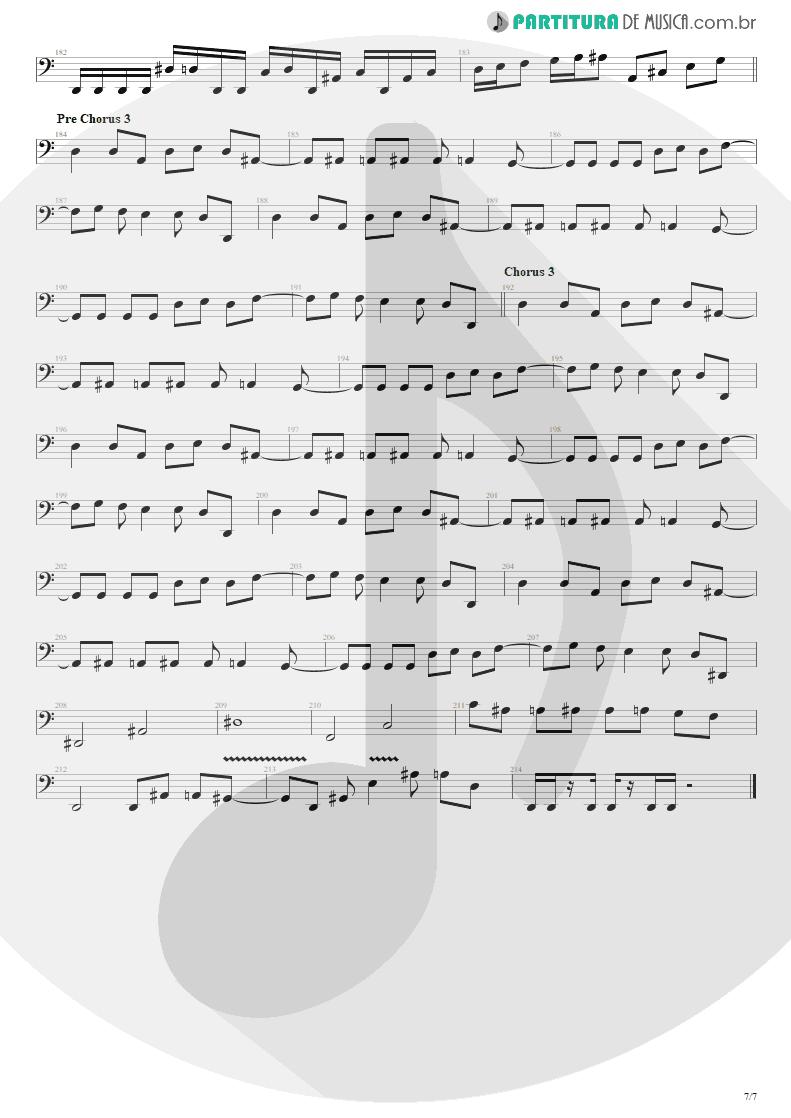 Partitura de musica de Baixo Elétrico - The Wicked End | Avenged Sevenfold | City of Evil 2005 - pag 7
