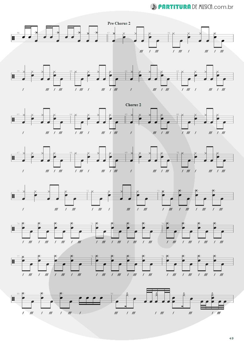 Partitura de musica de Bateria - The Wicked End | Avenged Sevenfold | City of Evil 2005 - pag 4