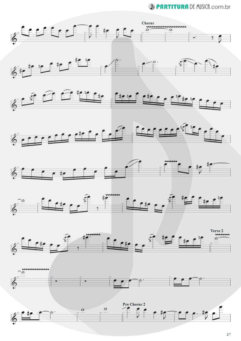 Partitura de musica de Guitarra Elétrica - The Wicked End | Avenged Sevenfold | City of Evil 2005 - pag 2