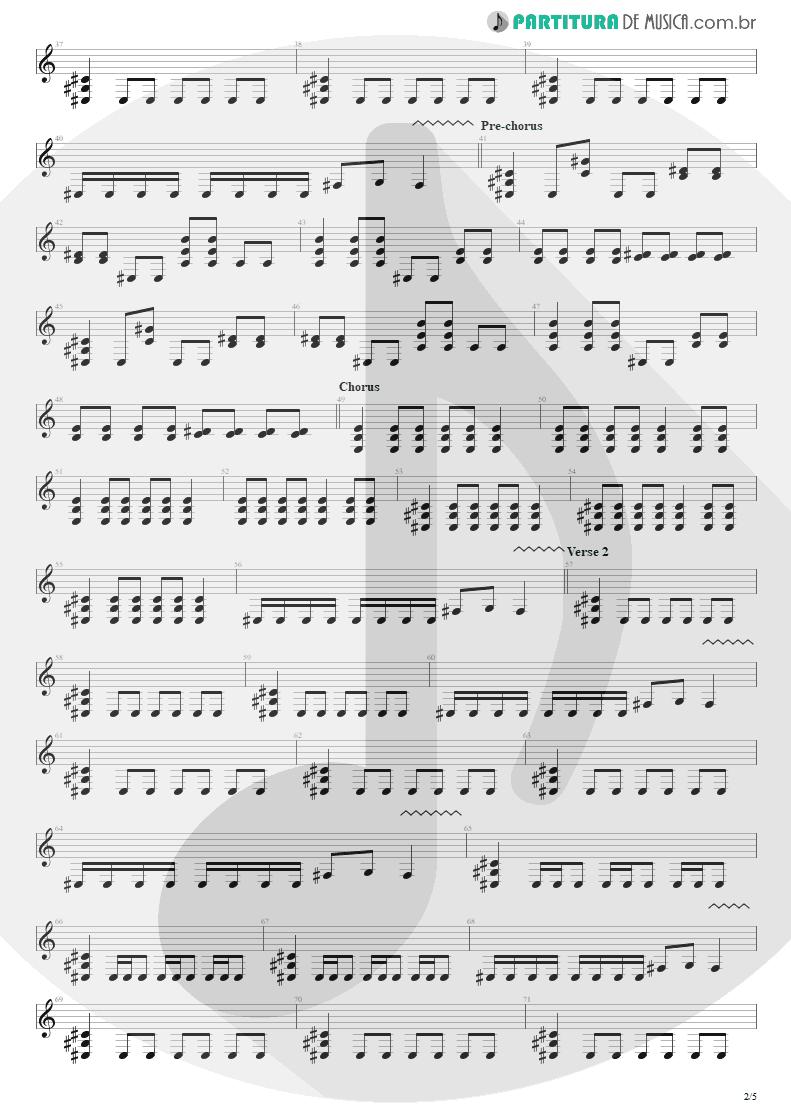 Partitura de musica de Guitarra Elétrica - Almost Easy   Avenged Sevenfold   Avenged Sevenfold 2007 - pag 2